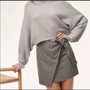 Aritzia Wilfred Dorine Plaid Wrap Skirt
